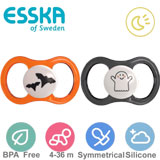 Esska Happy Glow Halloweennappar, symmetriska, silikon stl.2 (svart, orange)